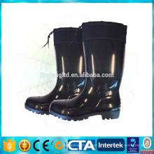 JX-962 impermeável alto PVC elástico botas quentes