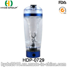 600ml Portable Plastic Vortex Protein Shaker Gym Bottle, BPA Free Electric Protein Shaker Bottle (HDP-0729)