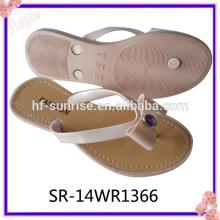 Mais recente moda flor pcu chinelos chinelo sapato mulheres