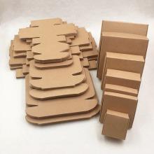 caja de empaquetado de la pestaña del oro empaquetado personalizado al por mayor de la caja de la manga del papel de Kraft