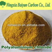 Cloreto de polialumínio para pó branco / amarelo para tratamento de água