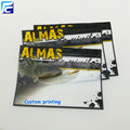 Transparent plastic fishing lure pouch for fishing hooks
