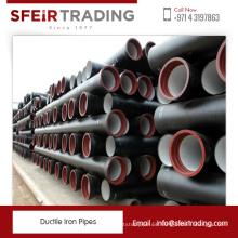 Fabricante de ISO2531 BS EN545 y 598 Tubos de hierro dúctil estándar