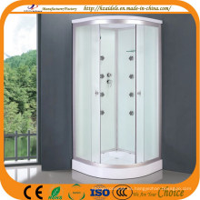 Baño de vidrio blanco con bandeja baja (ADL-8701)