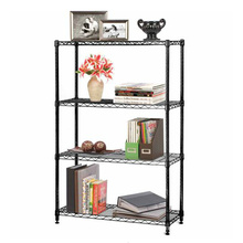 Assembly Adjustable Chrome Metal Furniture Home Goods Shelf (LD9035180A4E)