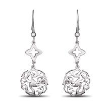 Moda pendiente de joyería Calabash pendiente personalizado Logo Blank Earring