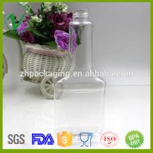 Embalagem química limpa garrafas de 350 ml para óleo do motor com tampa prova de criança