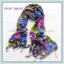 Muti-colored Viscose Shawls/Printed scarves
