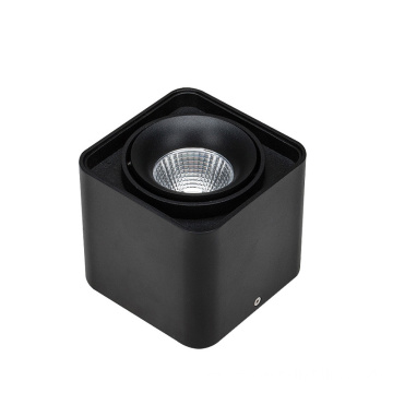 Downlight LED cuadrado montado en superficie de 7w