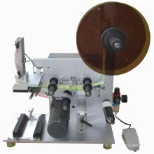 China semi automatic vacuum suction lid labeling machine