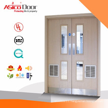 ASICO Solid Wooden Fire Rated Double Leaf Door With BM TRADA