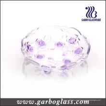 Plaque en verre coloré avec design floral (GB1708MG-1 / PDS1)