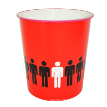 Red Open Top Plastic Creative Garbage Bin for Home (B06-871-2)