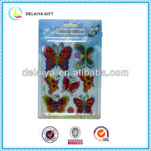 3D butterfly hologram stickers for kids decoration