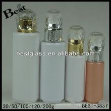 30/50/100/120 / 200ml, bouteille de lotion de chapeau de diamant, bouteille cosmétique acrylique de forme ronde