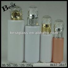 30/50/100/120/200ml,diamond cap lotion bottle,round shape acrylic cosmetic bottle