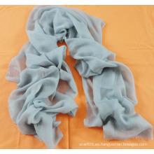 Bufanda de cachemira de color azul claro