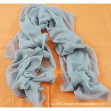 Solid Color Light Blue Cashmere Scarf