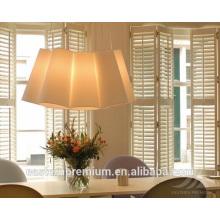 Volets de fenêtre de plantation de Basswood de mode de haute qualité