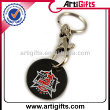 Promotional cheap metal keychain trolly coin