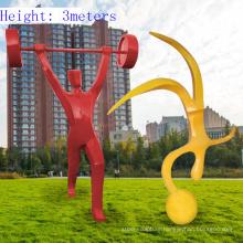 Abstract resin fiberglass sports sculpture
