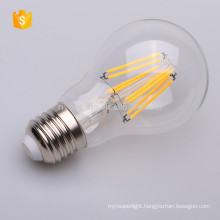 2017 High quality factory price A60 led filament bulb