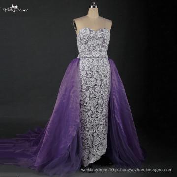 LZ166 Senhoras Vestido Moderno Vestidos De Vestido De Casamento De Organza De Lavanda De Organza