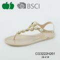 Populaire Pvc Ladies Fashion Crystal Sandal