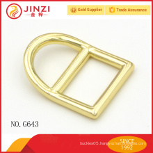 Shiny gold color special design square buckles for handbags