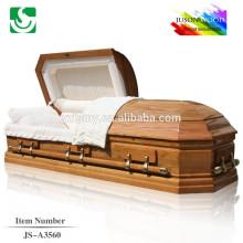 Meilleure qualité classique solide personnalisé cercueil en bois à vendre