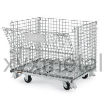 Verzinkte Lagerlagerung Zusammenlegbare Wire Mesh Container