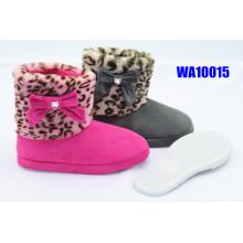 Women Leopard Fur Leg Suede Platform Scafo Boots