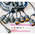 Wetterfeste String Lichter im Freien - UL gelistet - 15 Hängesets - Perfekte Patio Lichter - Schwarz - 16 11S14 Incandescent ST