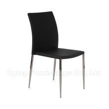 Гуандун контракта ресторанная мебель из черной кожи металла Обедая стул (СП-LC224)