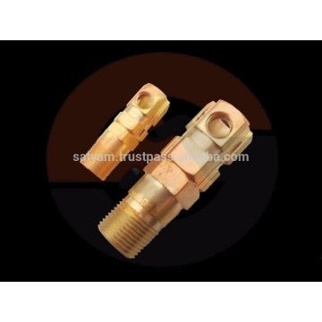 conector de cabo de latão