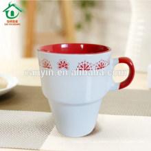2015 Taza de espresso esmaltado de porcelana de temperatura media