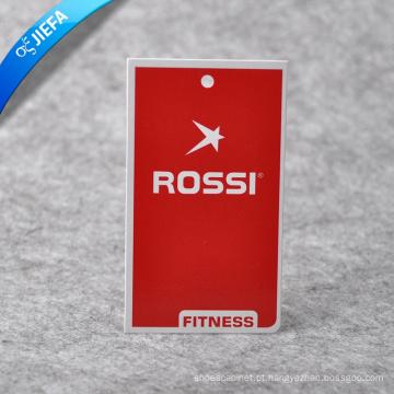 Etiqueta de papel da marca / etiqueta de balanço / etiqueta de papel pendurada para etiqueta de vestuário
