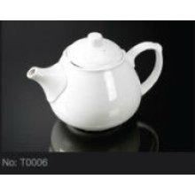 ceramic porcelain tea kettle for hotel T0006