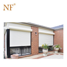 Roll up commercial aluminum partition door with grill glass design