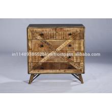 Salle de bain vintage industrielle à carreaux recyclés en bois
