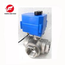 dn15 dn20 dn25 dn32 ss304 fluxo de água elétrico Válvula de controle de 3 vias
