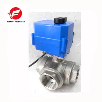 Ду15 Ду20 Ду25 Ду32 ss304 в поток воды электрический 3-ходовой клапан управления