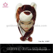 Sombrero enrrollado del invierno del oso marrón