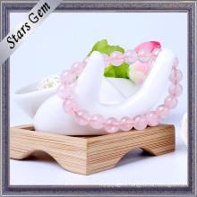 Clear Romantic Rose Quartzs Fashion Bracelet