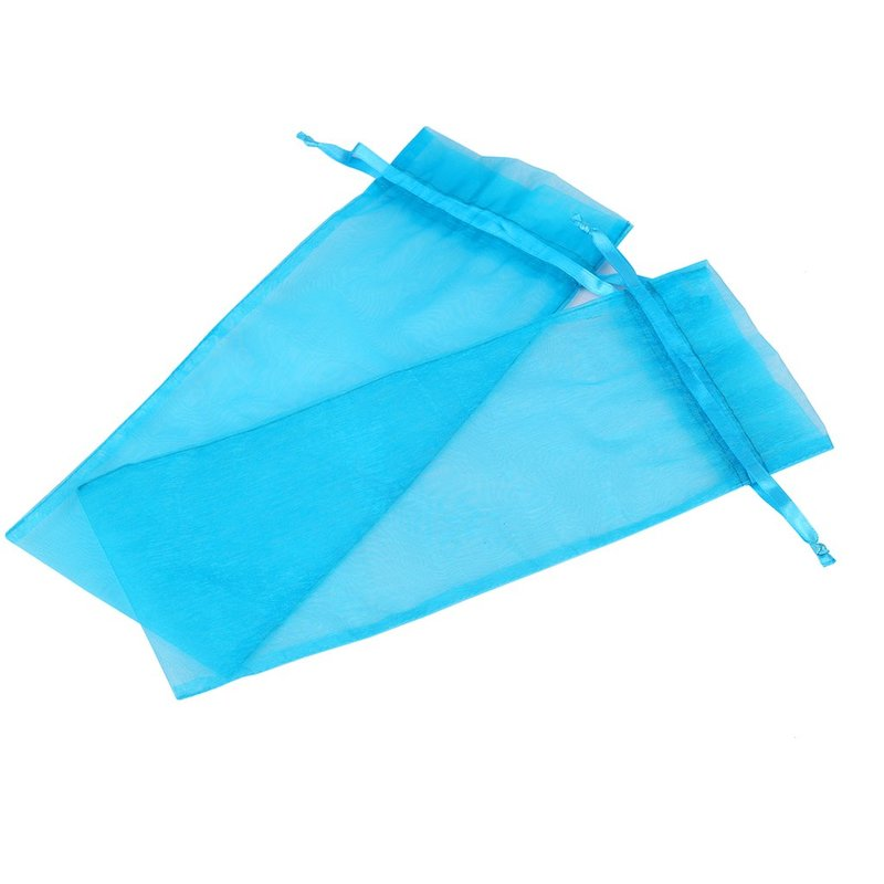 blue blank beautiful organza bag