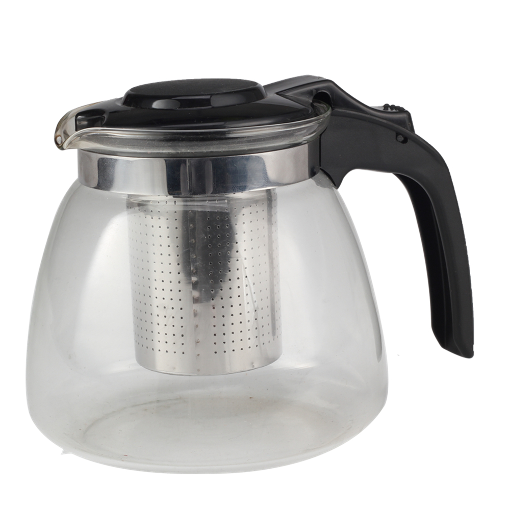 Glass Tea Pot With Plastic Handle