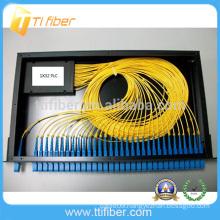 1x32 Fiber optic splitter PLC patch panel Black color