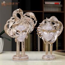 Смолы фея фигурка маска пользовательский конструктор шикарные украшения дома