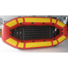 Надувная лодка Red и Yellow Sh для рыбалки, дрейфа