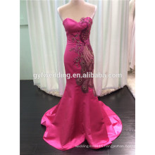 Beautiful Designer One Piece Party Dresses Embroidred Mermaid Evening Dress Corset Prom Dresses with Beaded High Neck 2015 C15